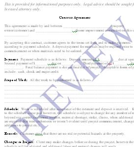 Handyman Business Forms Templates