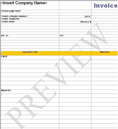 Handyman business forms templates download wajeb
